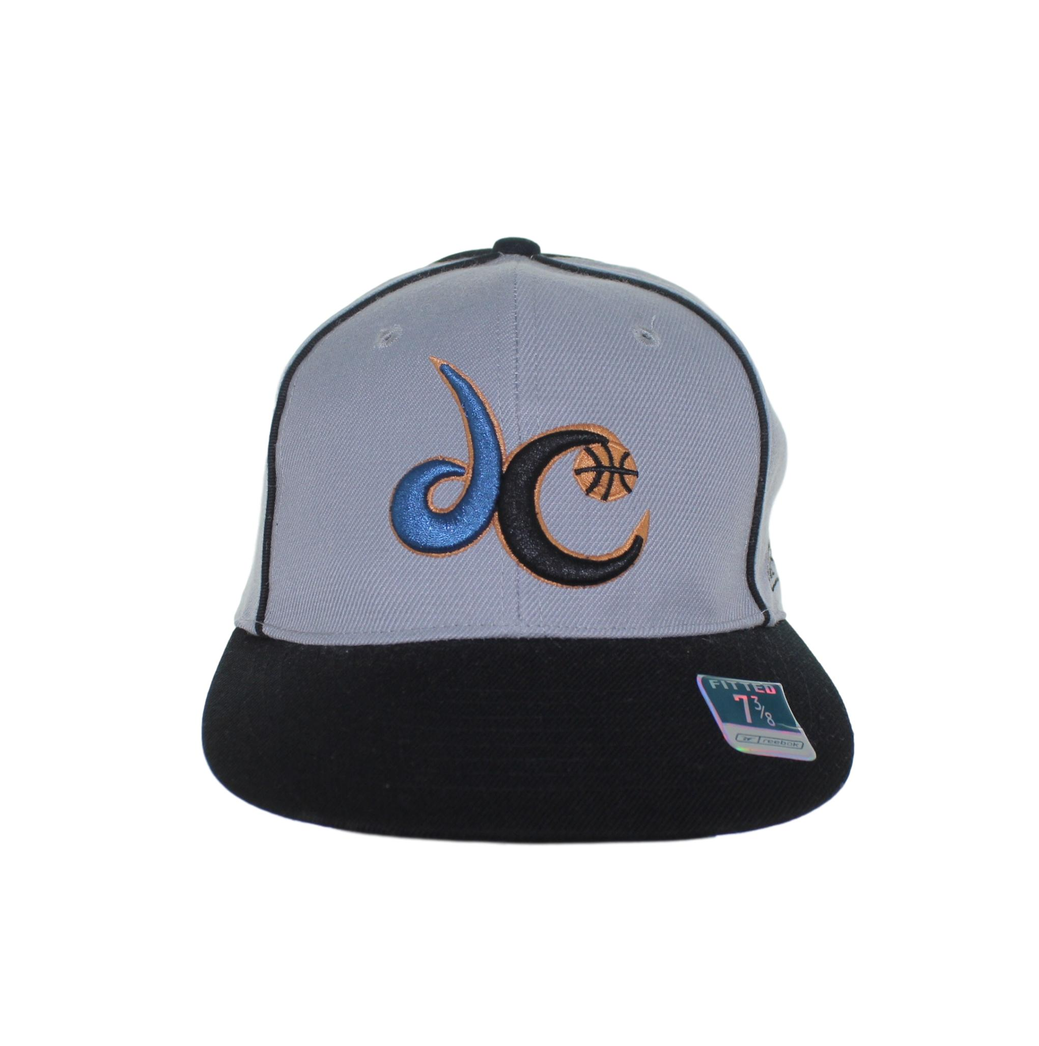 Washington Wizards Dc Logo On Grey Fitted Hat Sel