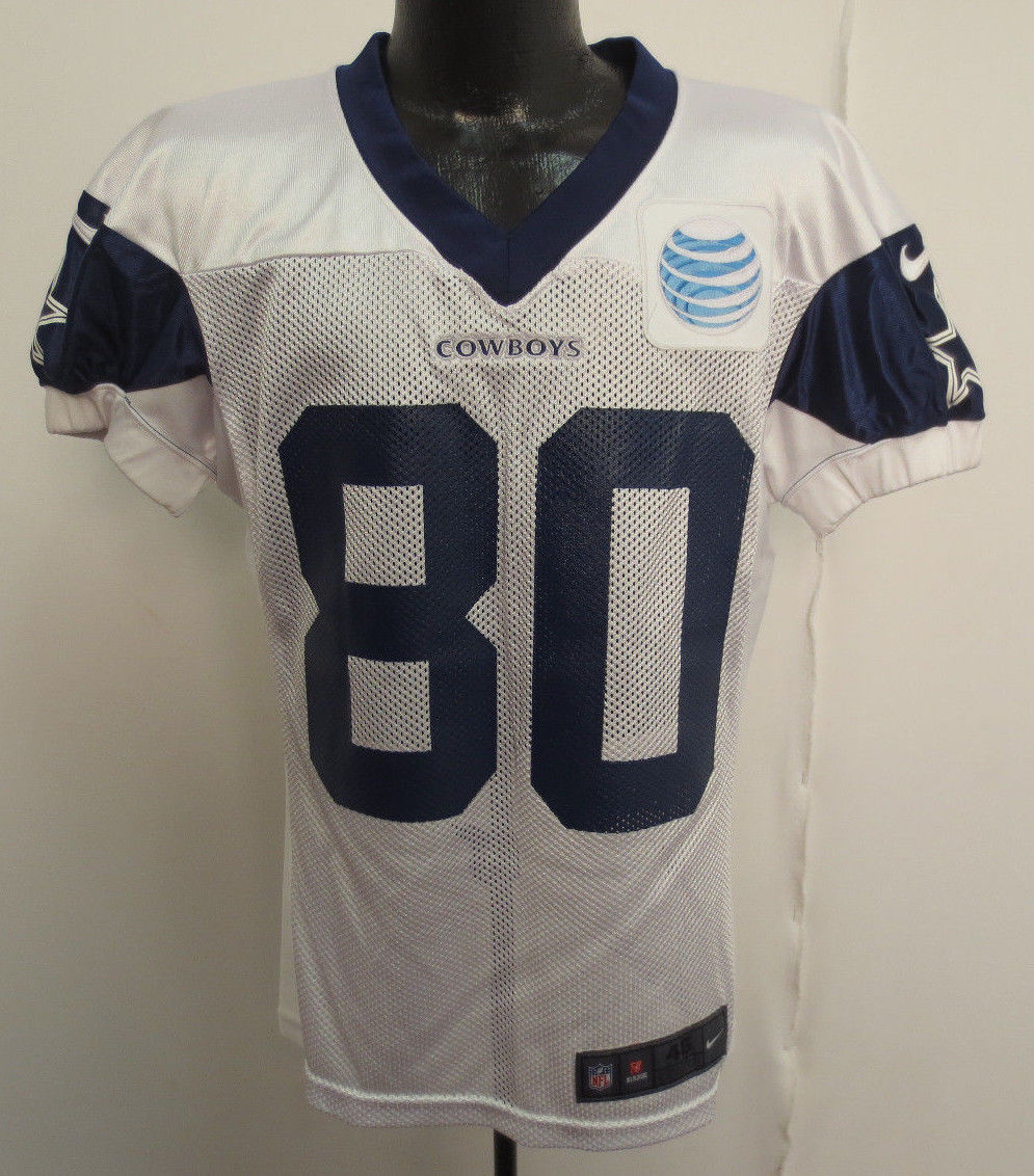 wholesale dealer 79026 8ac8e Dallas Cowboys Nike Authentic Practice Worn Jersey with White AT&T Patch -  WHITE