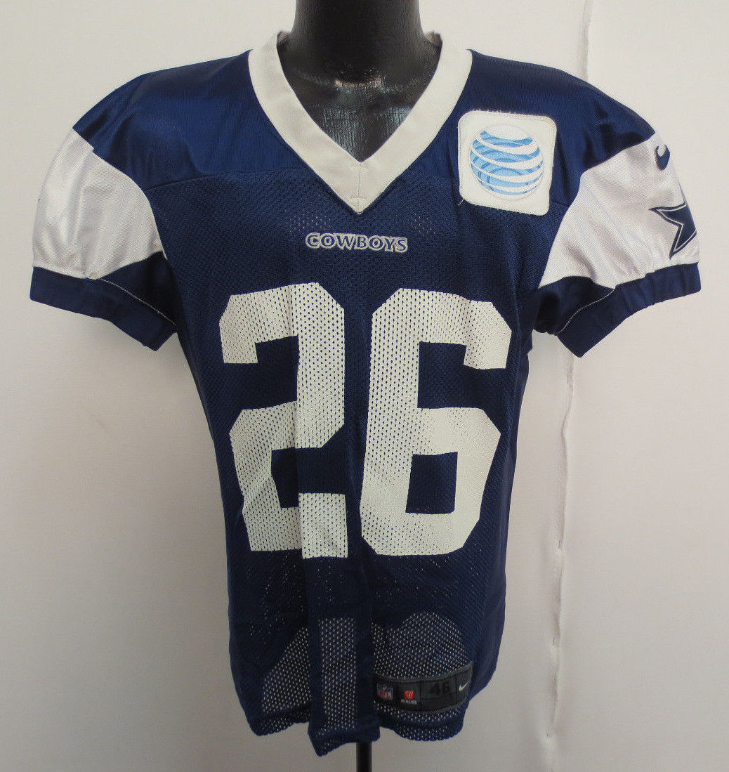 5b0a41131 Dallas Cowboys Nike Authentic Practice Worn Jersey with White AT T ...