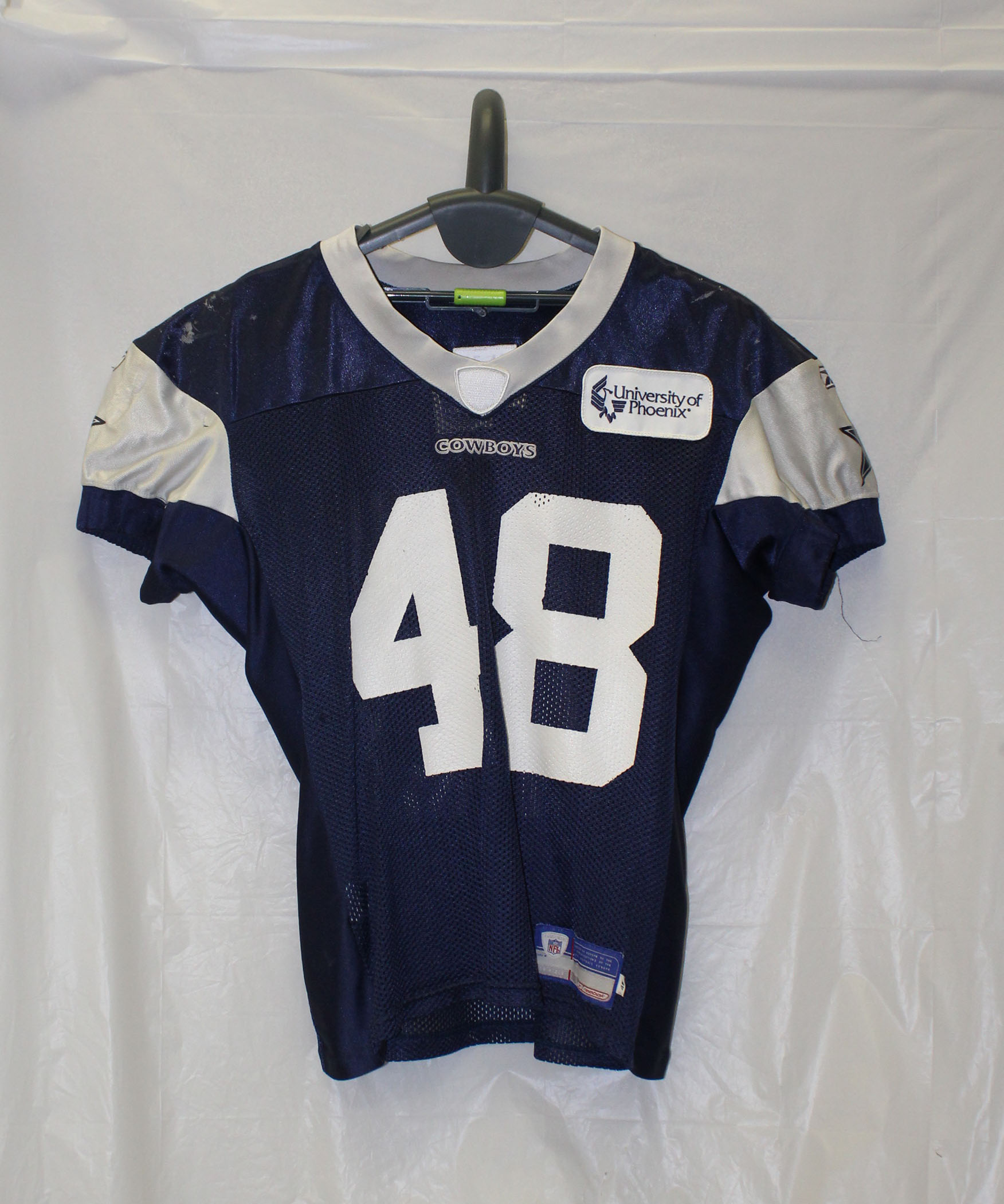 1a1e1ff08 Dallas Cowboys Reebok Authentic Practice Worn Jersey with White ...
