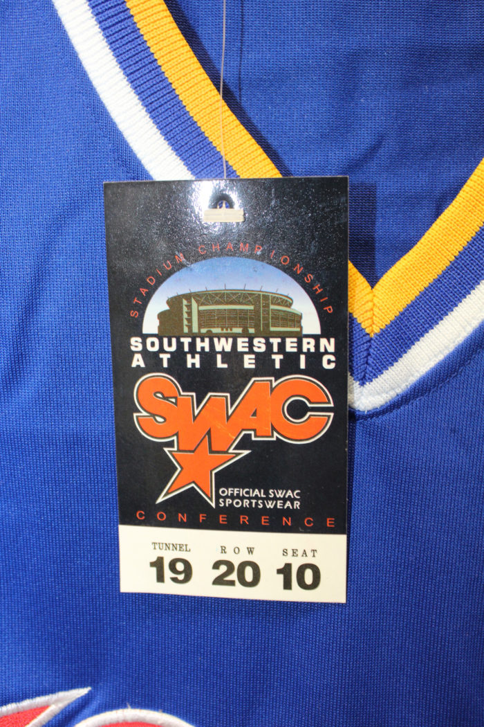 43193872305 Blue SWAC Championship Team Logo Heavyweight Throwback Basketball ...