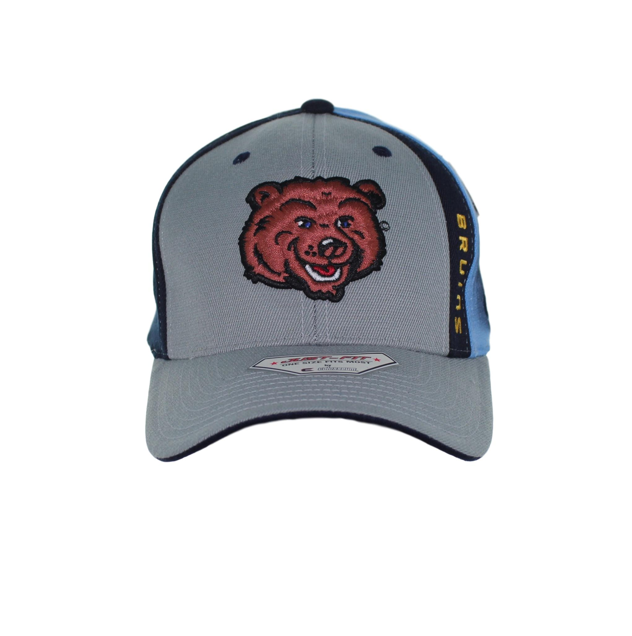 709a54a42 ... cheap ucla bruins brown bear logo on grey navy and blue flex fit hat  sel sportswear