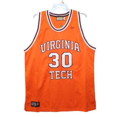 0887aa5af3c Virginia Tech Hokies – Dell Curry  30 Orange Throwback Jersey