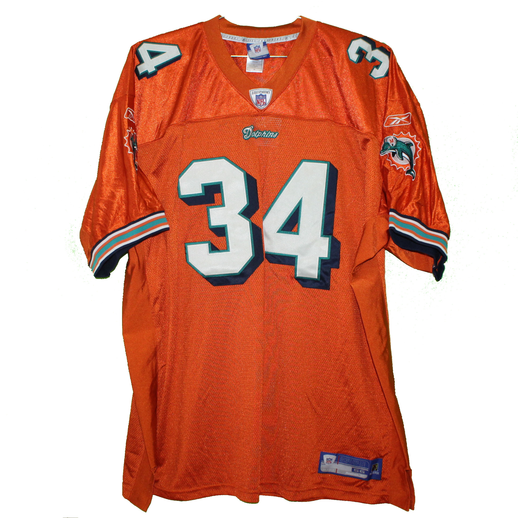 0679b02af87a9 Miami Dolphins – Ricky Williams #34 Orange Vintage Throwback Jersey ...