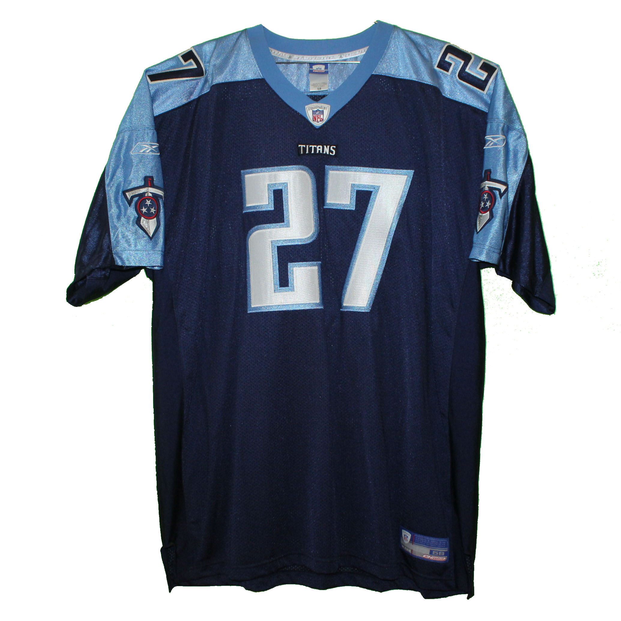 watch 4cb3a b8a18 Tennessee Titans - Eddie George #27 Navy Blue Vintage Throwback Jersey