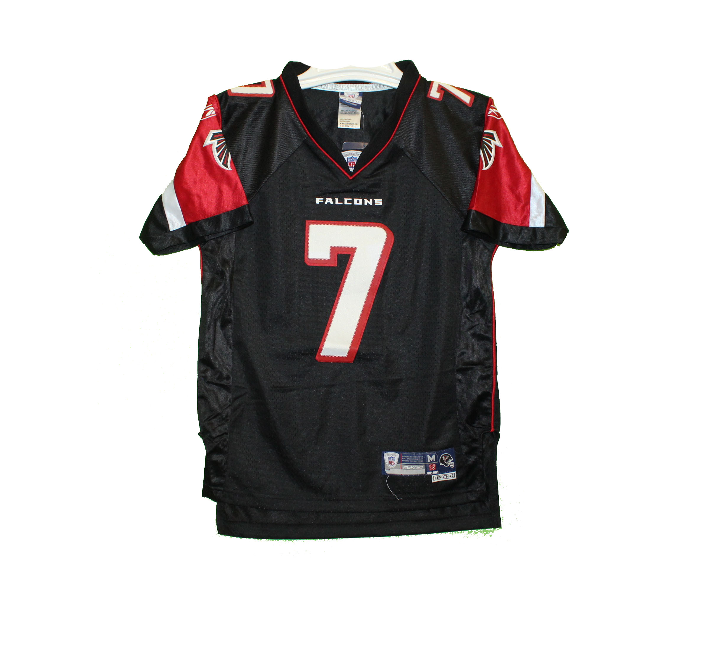 new arrival 955c0 5679f Atlanta Falcons - YOUTH Vintage Embroidered Black Michael Vick Throwback  Jersey