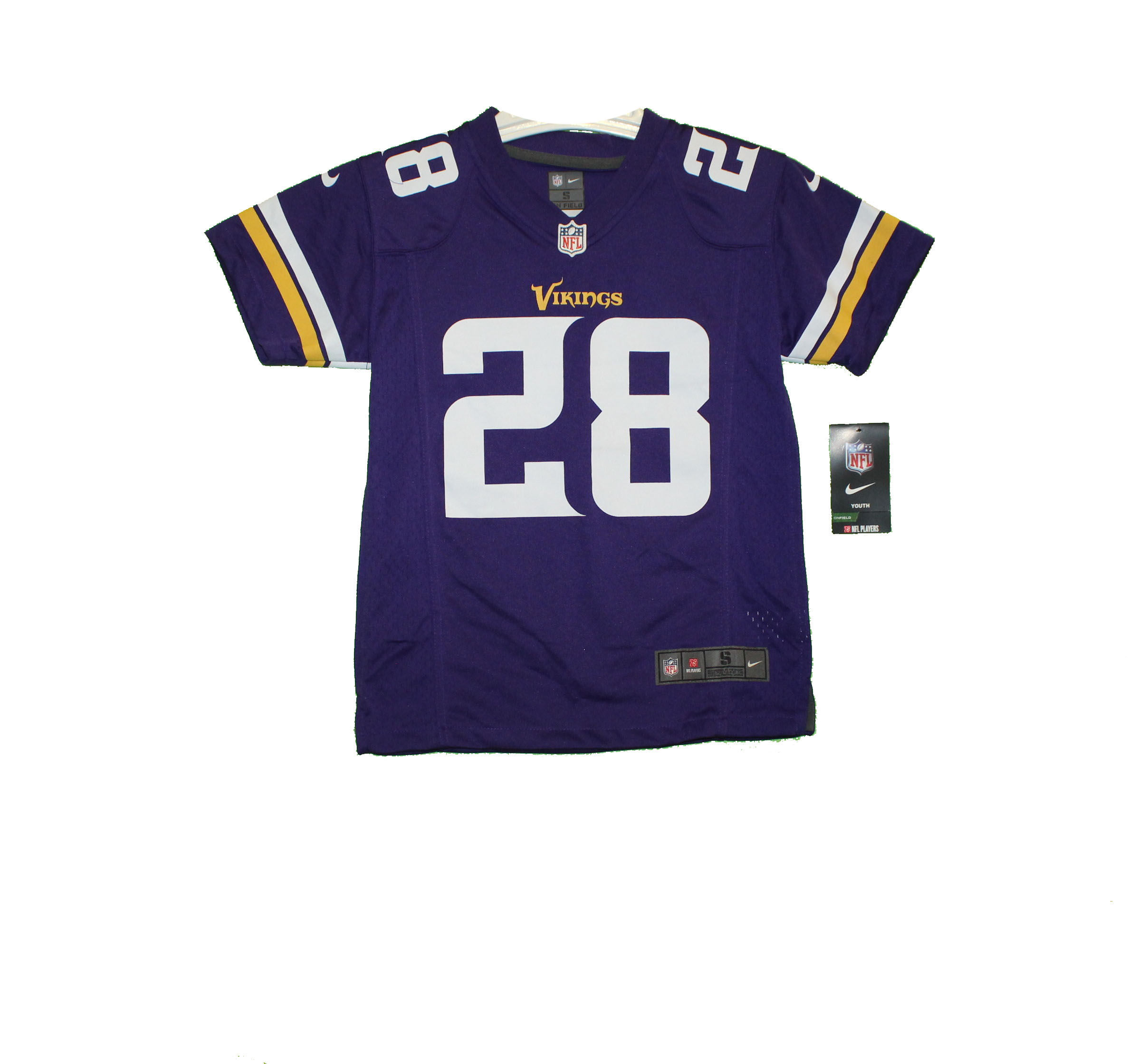 huge selection of d134b 85d45 Minnesota Vikings - YOUTH Vintage Screenprinted Adrian Peterson Throwback  Jersey