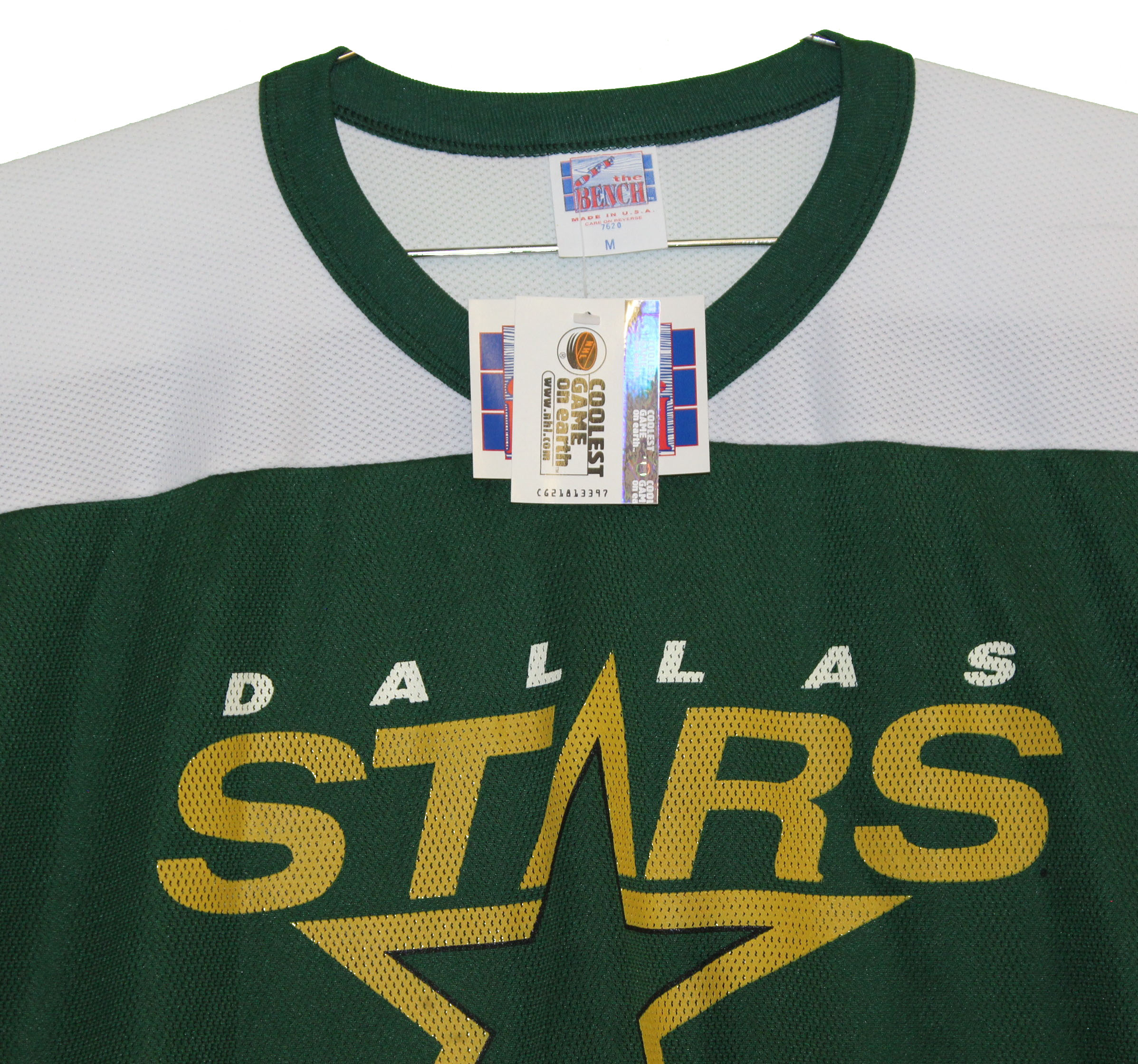 separation shoes 9d7a4 10547 Dallas Stars Vintage Throwback Green T-Shirt Jersey