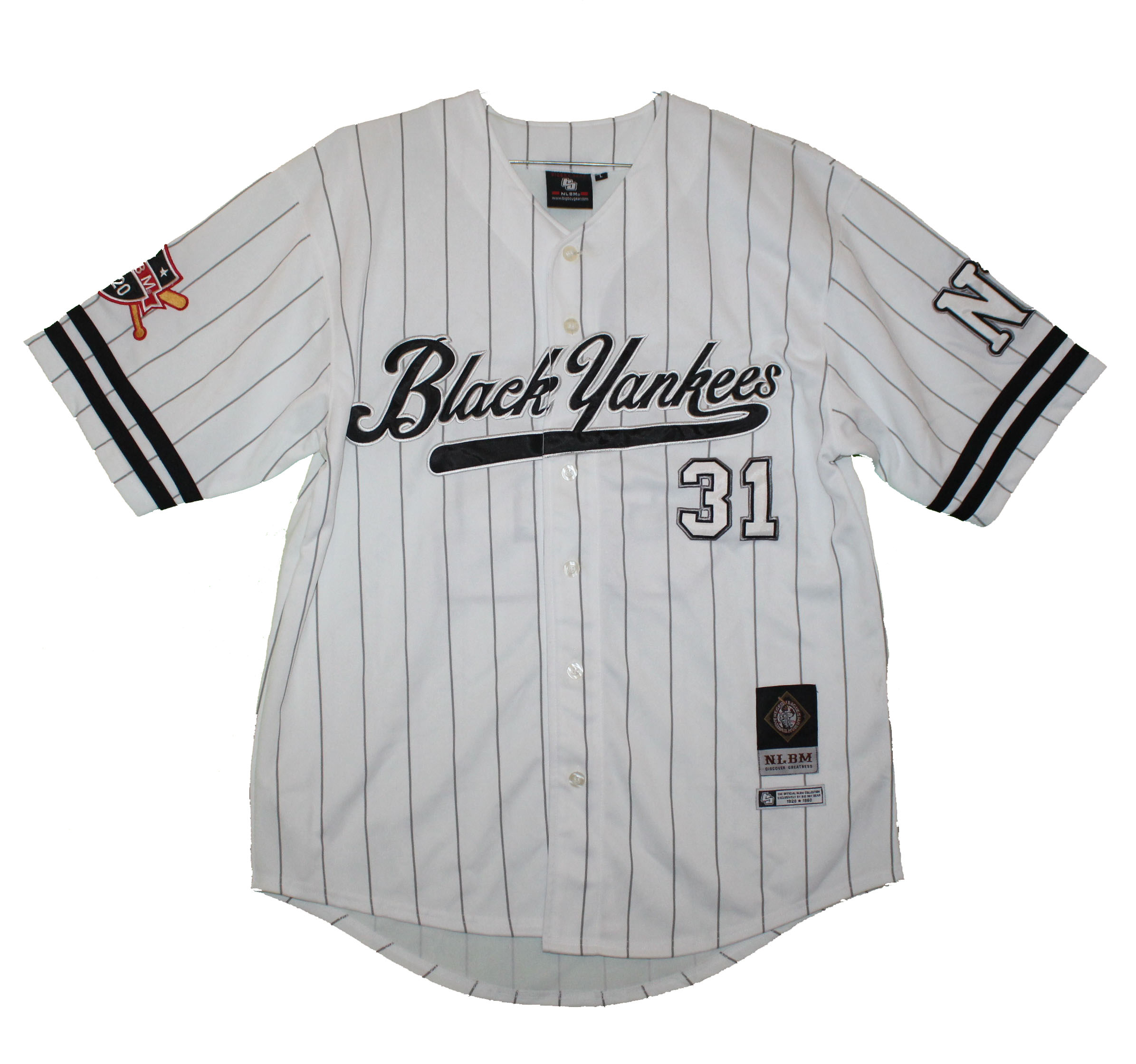 online store 6a887 4548c New York Black Yankees - Embroidered Vintage Replica Polyester Jersey