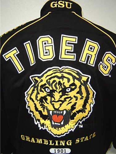 buy popular 8b549 55c18 GSU Grambling State University Tigers Heavyweight Racing Style Jacket