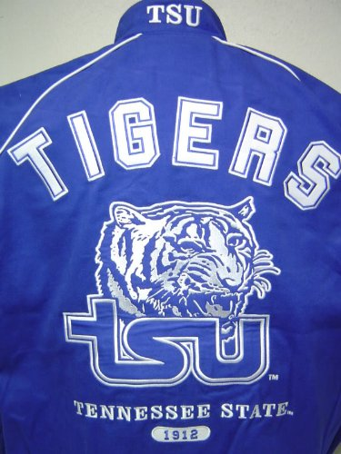 outlet store fa396 3a21c Tennessee State University TSU Tigers Heavyweight Cotton Racing Style Snap  up jacket!